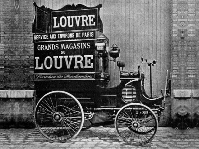 Les utilitaires – image du Peugeot type 13 lancé en 1895